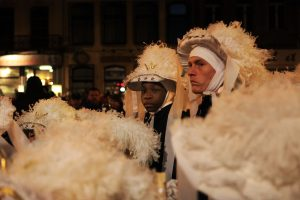 Paysans au carnaval de Binche - Belgique