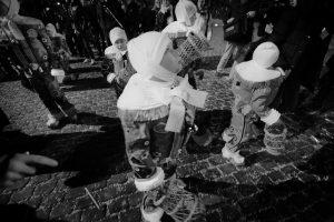 Jeunes gilles lors du carnaval de Binche en 2013 - Belgique
