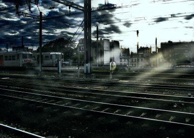 métro parisien - près de la gare Montparnasse